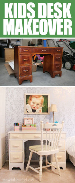 kids desk makeover