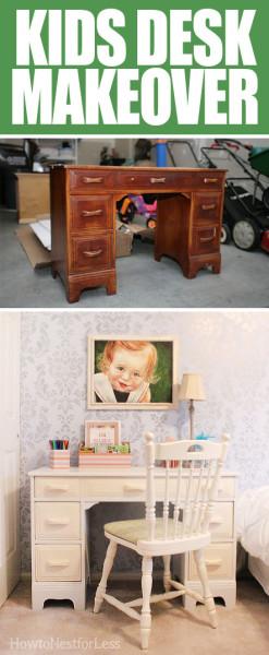 kids desk makeover
