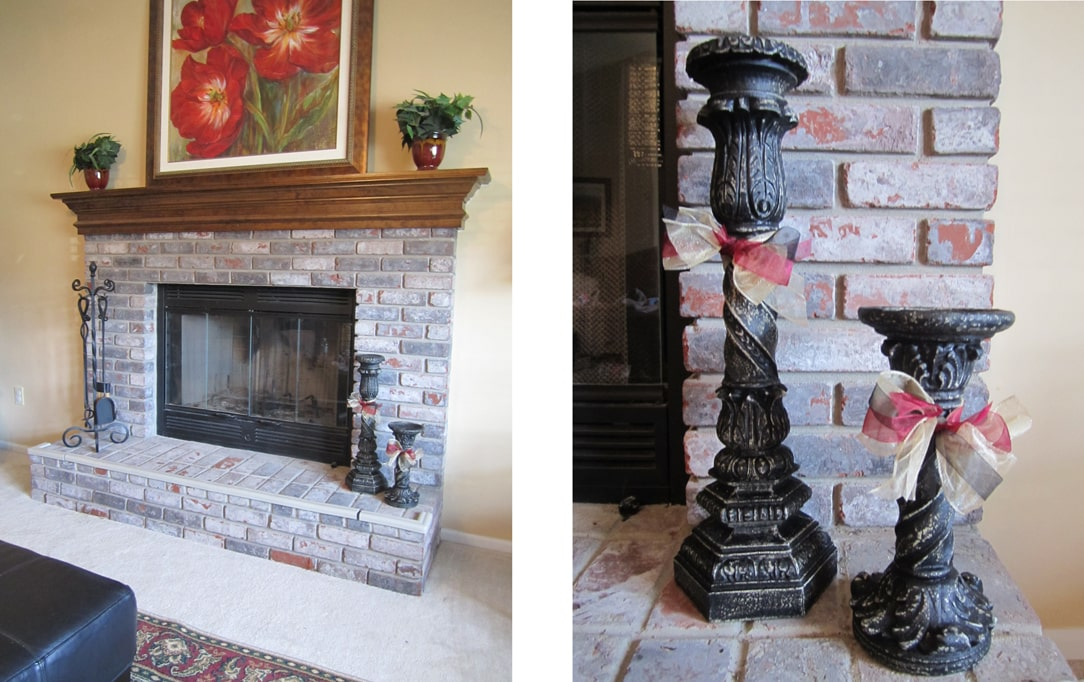 Easy Paint Job: Candlesticks for my Hearth