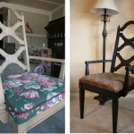Back to Black: Reupholstered Chair for Great Room