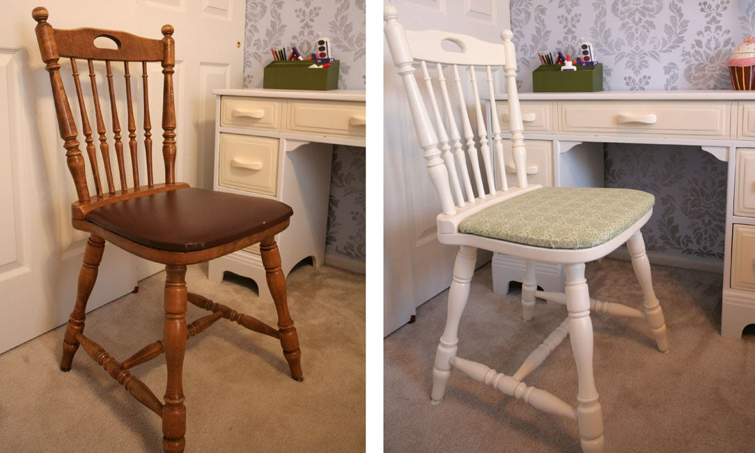 Reupholstered Desk Chair for the Kiddo - How to Nest for Less