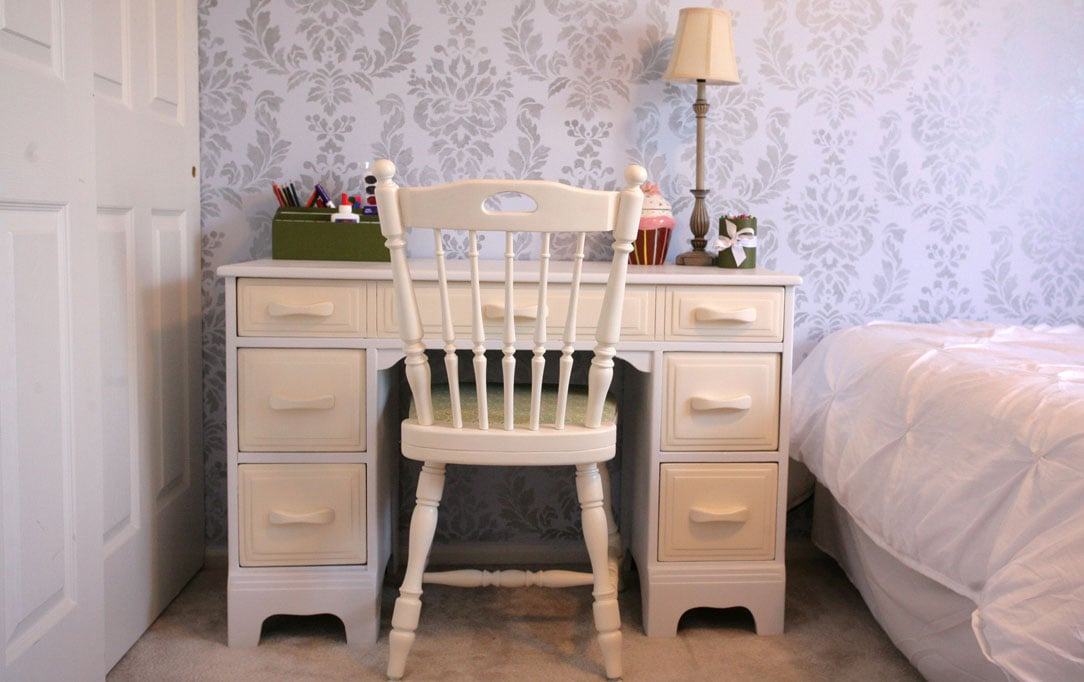 Reupholstered Desk Chair for the Kiddo