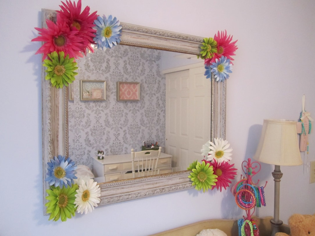 Embellished Mirror for Daughter's Room