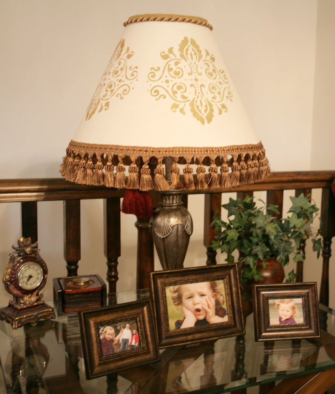Transforming an every day lamp shade how to nest for less photos on my end table were taken by jlynn photography in st louis shes amazing check out her website at jlynnphotoart geotapseo Image collections