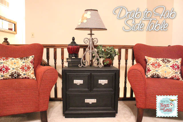 From Drab to Fab: New Side Table