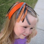 halloween hair ribbon