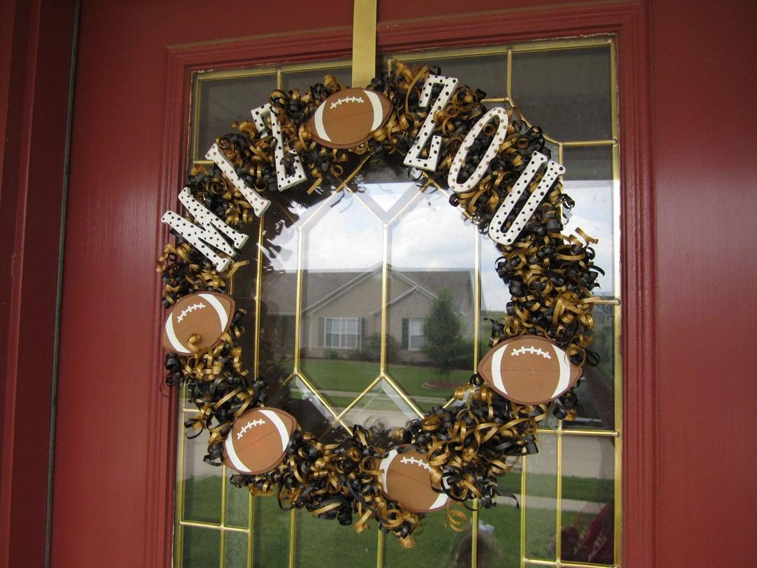 Show Some Spirit: Mizzou Football Wreath