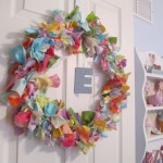 fabric wreath complete