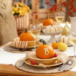 table cards pumpkins