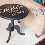 vinyl lettering stencil end table