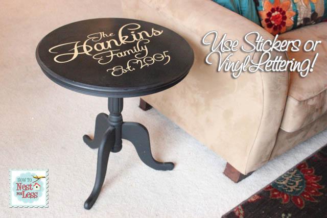 Flea Market Find: Vinyl Lettering & A Little Paint