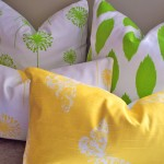 yellow and green pillows