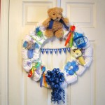 Diaper Wreath for Mommy