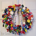 balloon birthday wreath