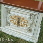 chalk paint wax end table