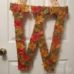closeup leaf wreath