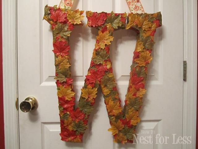 Fall in Love: Autumn Door Monogram