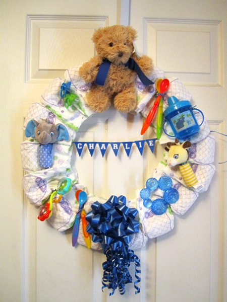 Diaper Wreath For Mommy How To Nest For Less