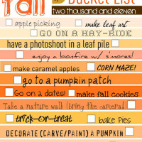 Cute Idea: Fall Bucket List