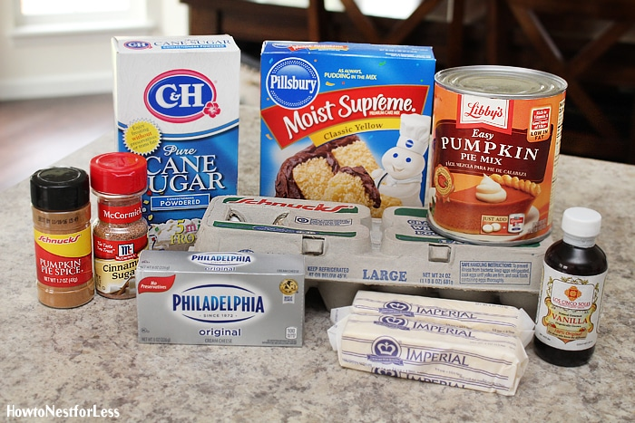 pumpkin gooey butter cake ingredients