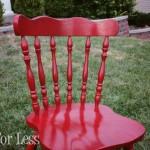 red Krylon paint chair
