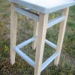 side chalk paint stencil stool