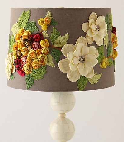 Anthropologie knock off embellished lamp shade how to nest for and mozeypictures Gallery