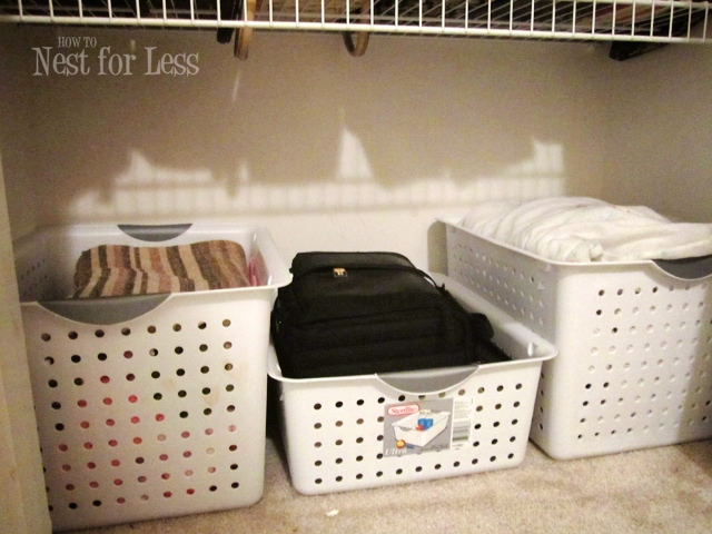 Baskets Linen Closet   How To Nest For Less™