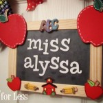 chalkboard close teacher wreath