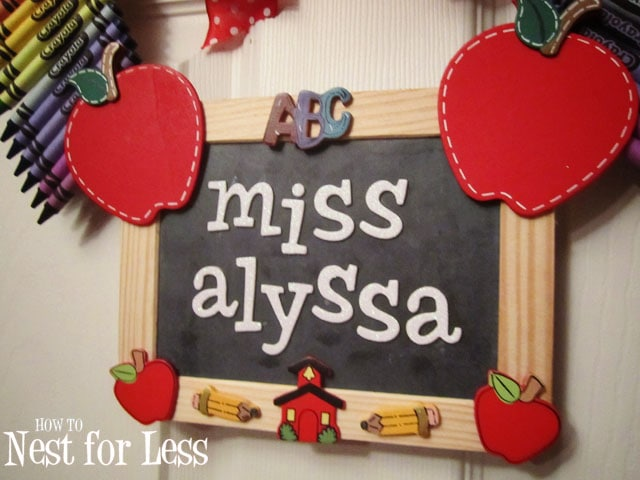 Personalized Teacher Classroom Wreath