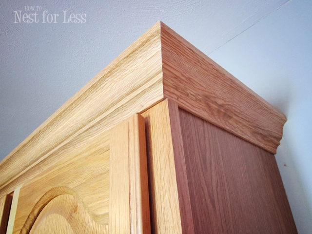 wonderful How To Put Crown Moulding On Kitchen Cabinets #10: Maybe ...