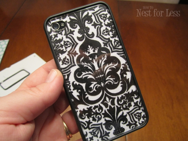 On the Cheap Scrapbook Paper iPhone Covers