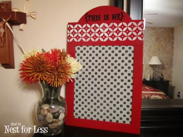 {This Is Me} Fabric Covered Bulletin Board