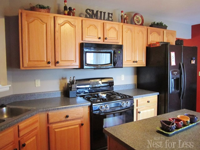 we - Oak Kitchen Cabinet Makeover