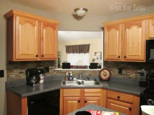 kitchen cabinet crown molding corner - How to Nest for Less™