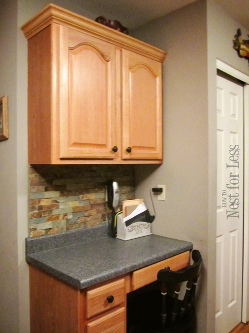 mini makeover: crown molding on my kitchen cabinets - how to nest