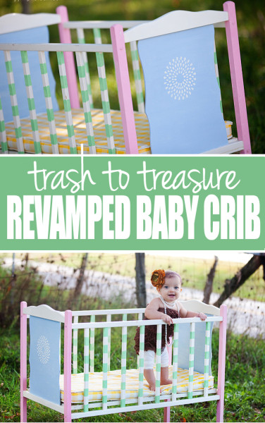 old baby crib makeover