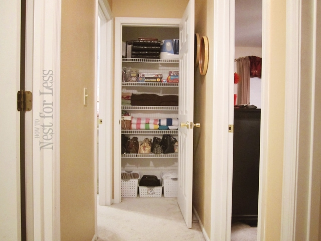 Clean House: Organizing My Hall Linen Closet