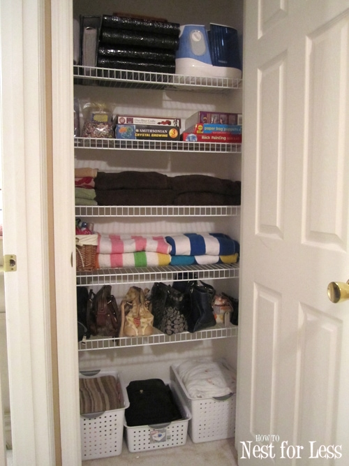 Clean House: Organizing My Hall Linen Closet - How to Nest