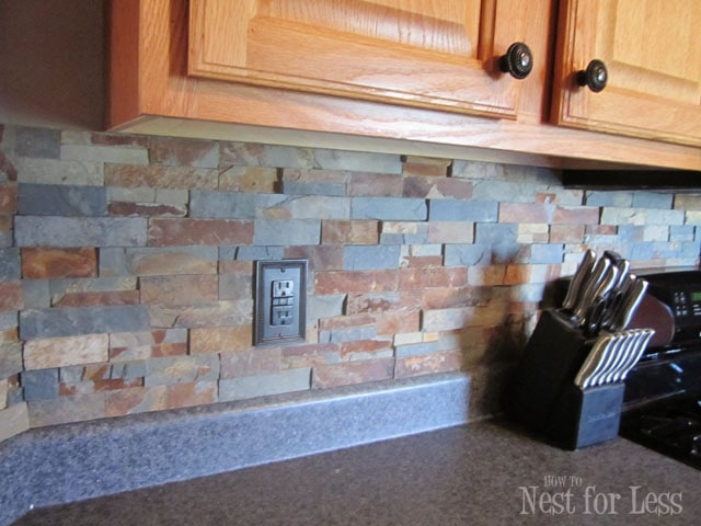 Kitchen Backsplash Rock stone kitchen backsplash - how to nest for less™