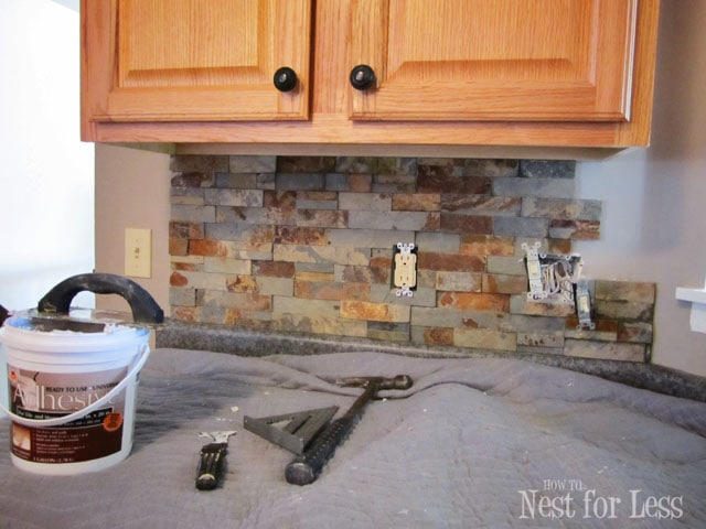 ok - Stone Kitchen Backsplash