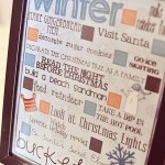 Cute Idea: Winter Bucket List