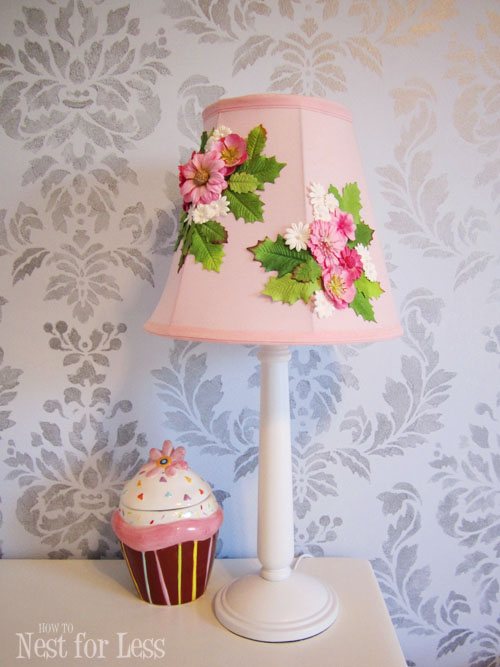 Flower Lamp Shade : Anthropologie knock off embellished lamp shade how to
