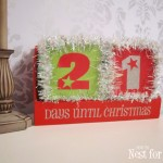 Christmas Tinsel Block Calendar
