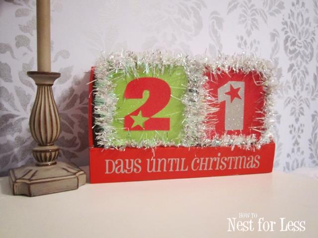 Christmas Tinsel Block Calendar