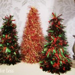tinsel christmas cones