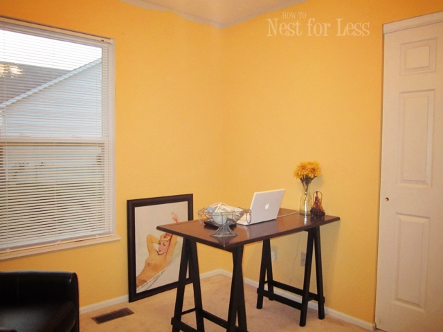 Yellow Stenciled Wall for My New Home Office/Craft Room - How to ...