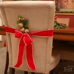 Christmas parson chair decor