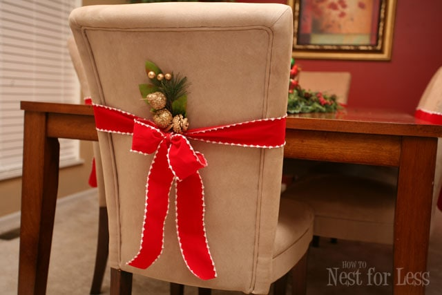 Pinterest Project: Parson Chair Covers For Christmas