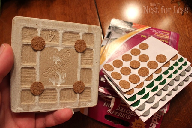 Handmade tile coasters from party napkins how to nest for Ceramic tiles for crafts projects